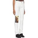 Raf Simons White Christiane F. Wet Hair Patch Regular Jeans