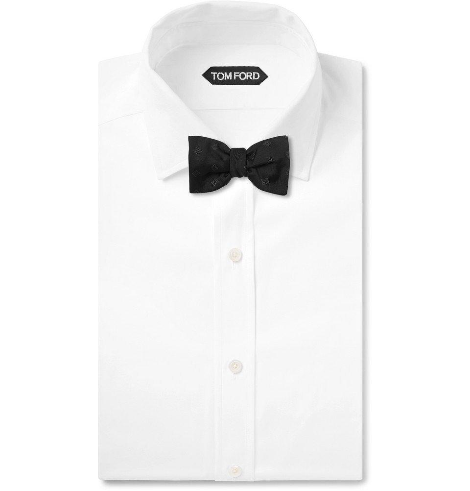Givenchy - Pre-Tied Silk-Jacquard Bow Tie - Black