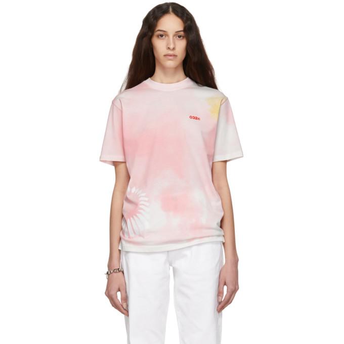 Photo: 032c Pink Cosmic Workshop Tie-Dye T-Shirt