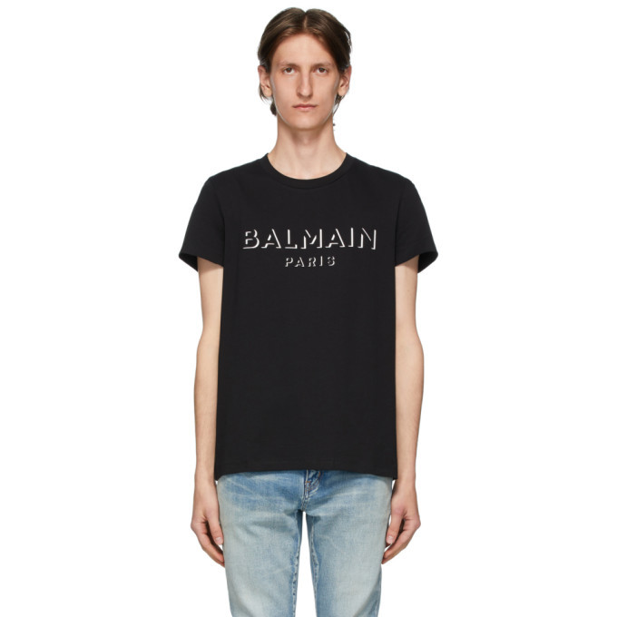 Photo: Balmain Black 3D Logo T-Shirt