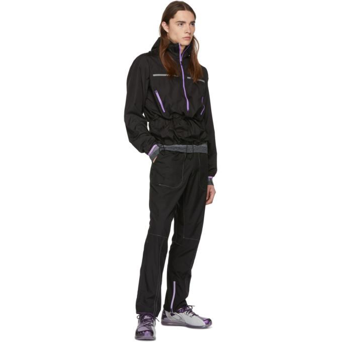 Kiko Kostadinov Black Asics Edition Woven Track Pants