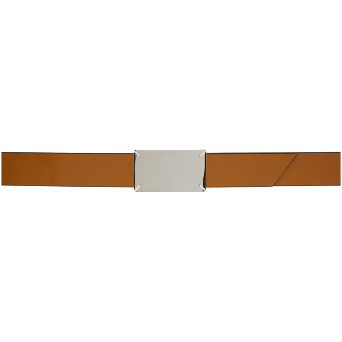 Photo: Maison Margiela Brown and Black Label Belt