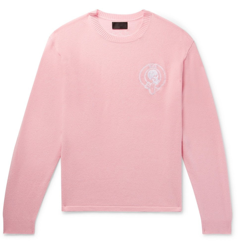 Photo: RtA - Embroidered Wool and Cashmere-Blend Sweater - Pink