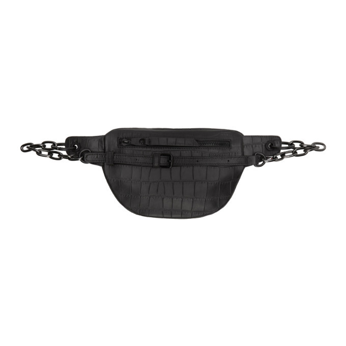Versace Jeans Couture Black Snake Bum Bag