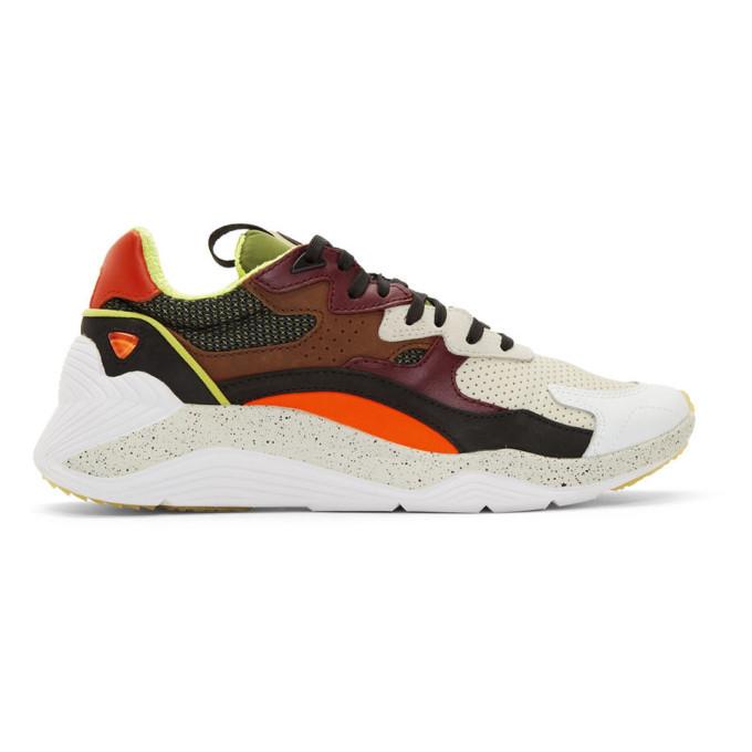 Photo: McQ Alexander McQueen Khaki and Orange Daku Sneakers