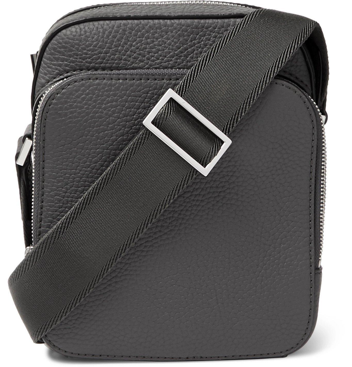 Photo: Hugo Boss - Crosstown Full-Grain Leather Messenger Bag - Gray
