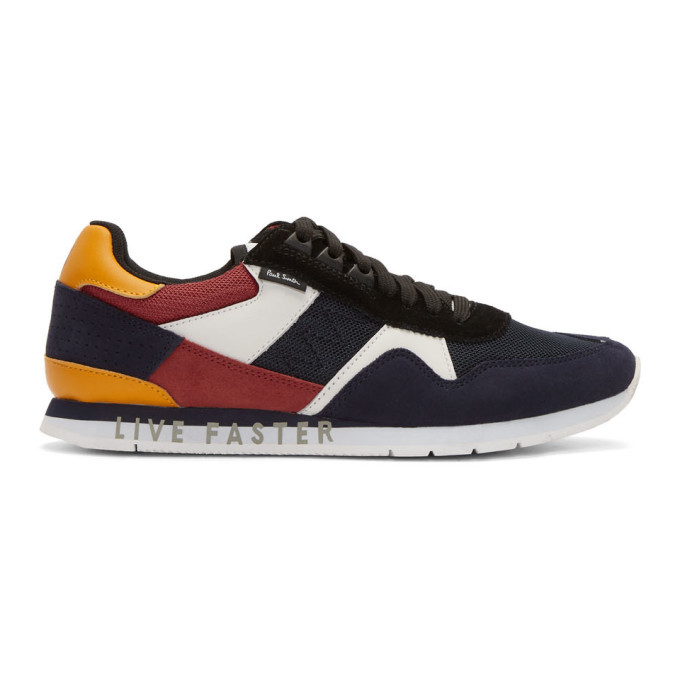 Photo: PS by Paul Smith Navy Suede Vinny Sneakers