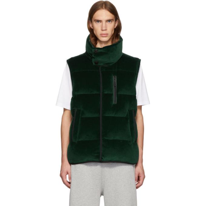 Photo: Burberry Green Down Velour Vest