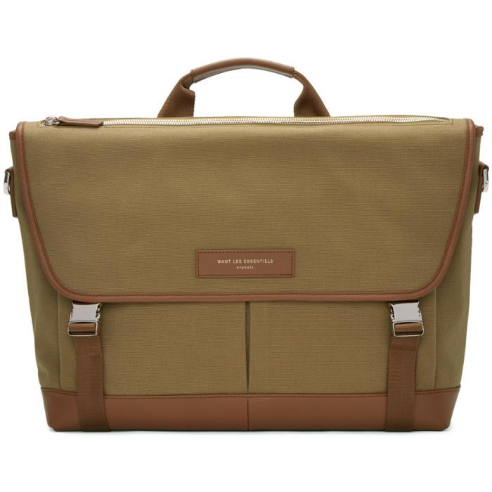 Photo: Want Les Essentiels Beige Canvas Jackson Messenger Bag