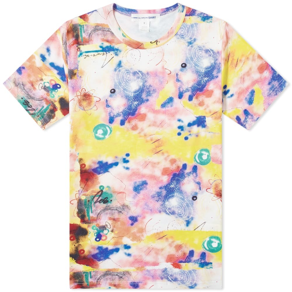 Photo: Comme des Garcons SHIRT Futura Print B Allover Tee