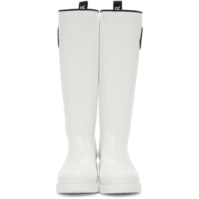 Moncler White Rubber Ginger Tall Boots