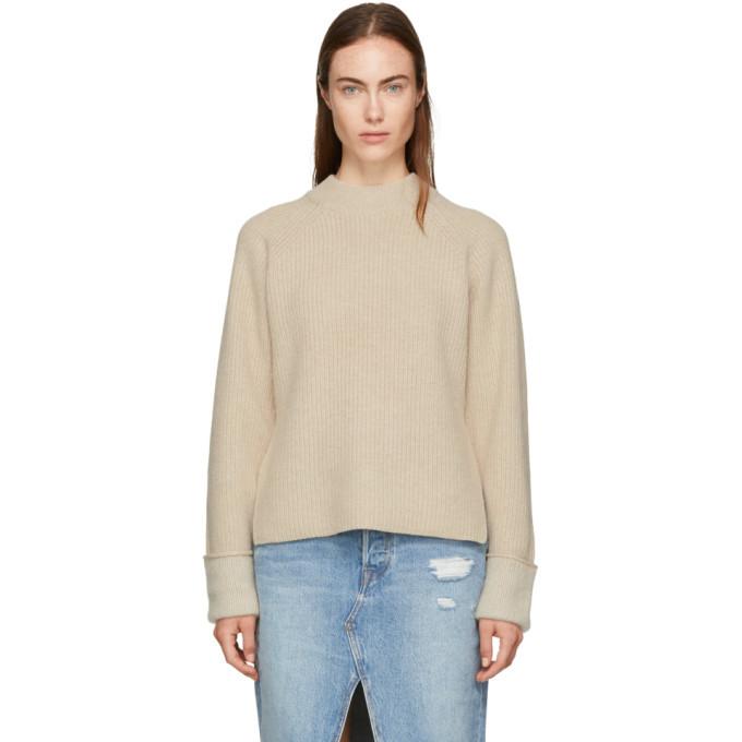 3.1 Phillip Lim Beige Wool-Blend Sweater