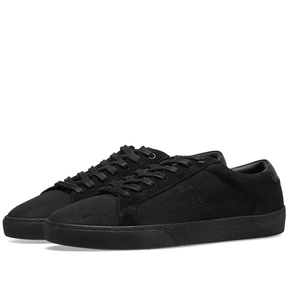 Photo: Saint Laurent SL-06 Embroidered Signature Sneaker