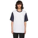 3.1 Phillip Lim White and Navy Classic Bifabric T-Shirt