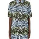 Aries Animal Hawaiian Shirt Blue