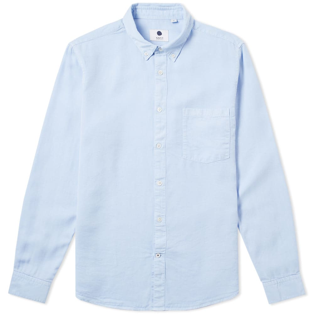 Photo: NN07 Falk Button Down Shirt Blue