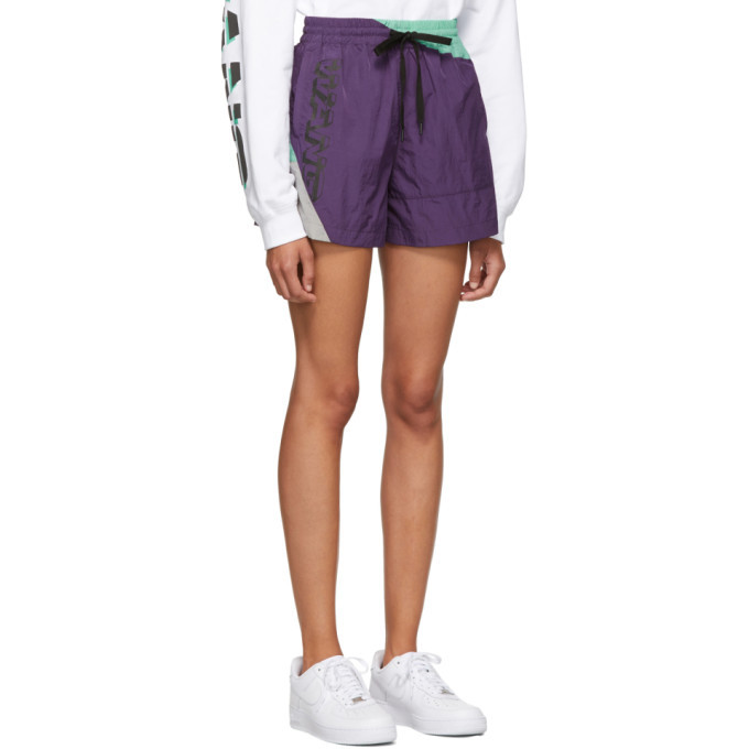 alexanderwang.t Purple Heavy Washed Shorts