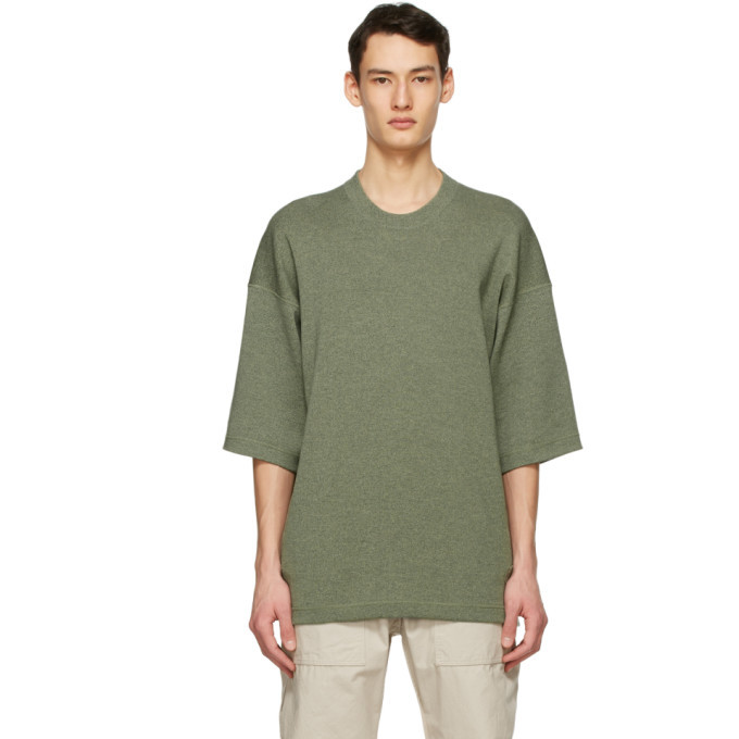 Photo: Kenzo Green Wool Tiger Crest T-Shirt