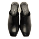 3.1 Phillip Lim Black Plexi-Heel Mules