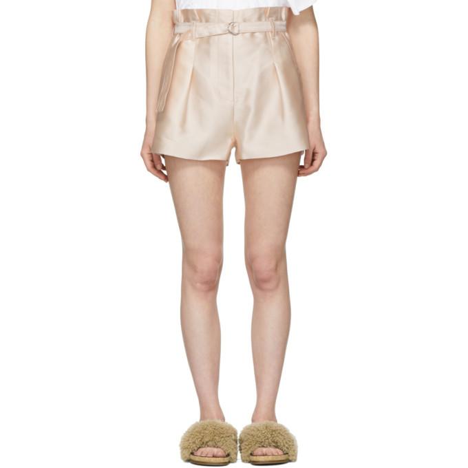 3.1 Phillip Lim Pink Satin Origami Shorts
