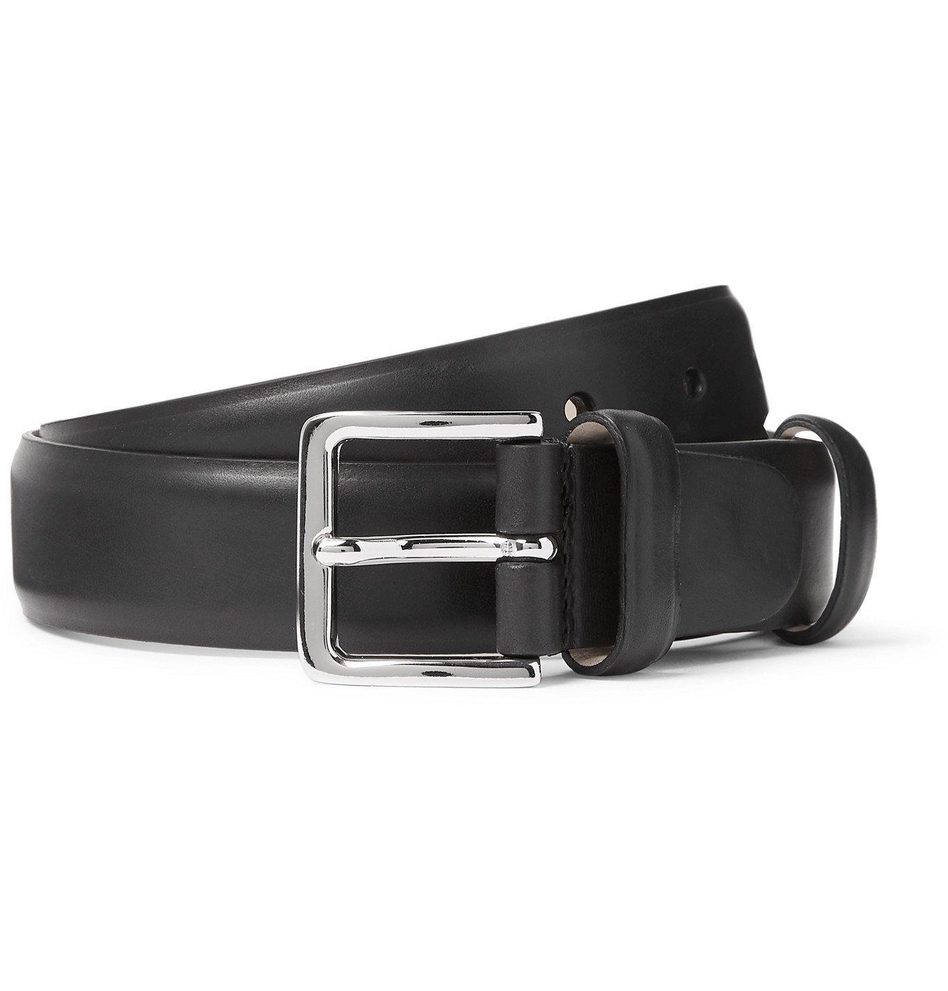Photo: Mr P. - 3cm Leather Belt - Black
