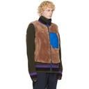 Sacai Brown Wool Panelled Vest