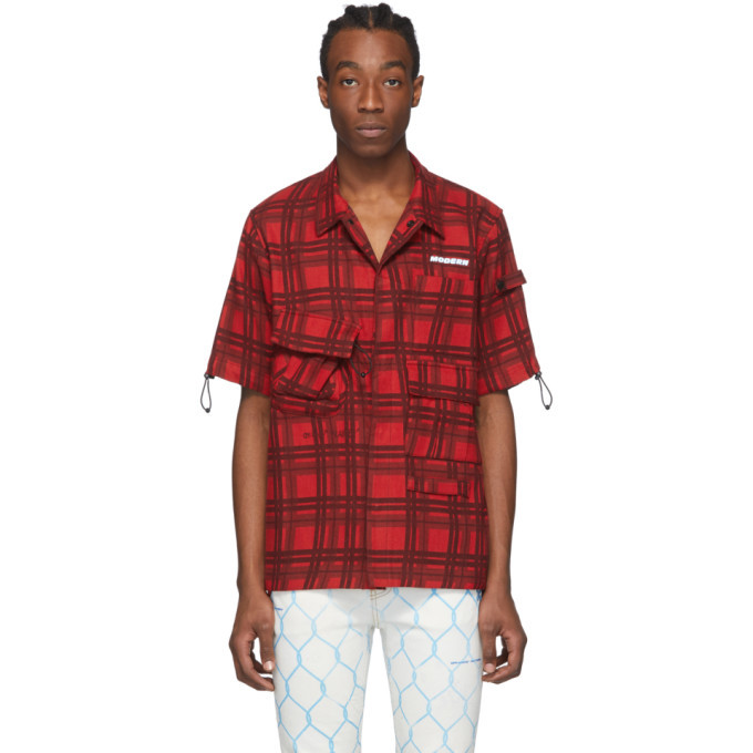 Photo: Off-White Red Check Voyager Short Sleeve Shirt
