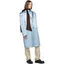 Raf Simons Blue Silk Classic Big Coat
