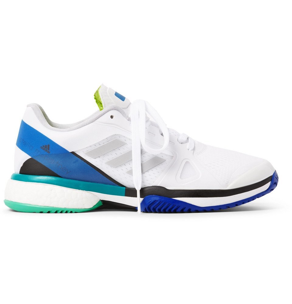 Photo: Adidas Sport - Stella McCartney Barricade Boost Rubber-Trimmed Mesh Tennis Sneakers - White