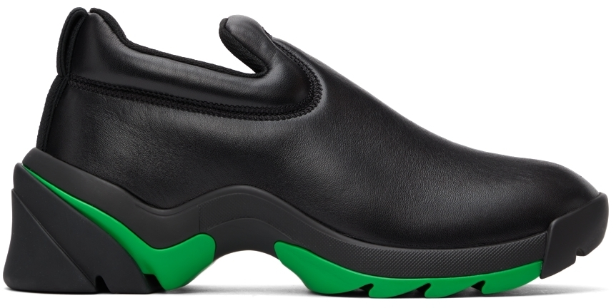 Photo: Bottega Veneta Black Flash Sneakers