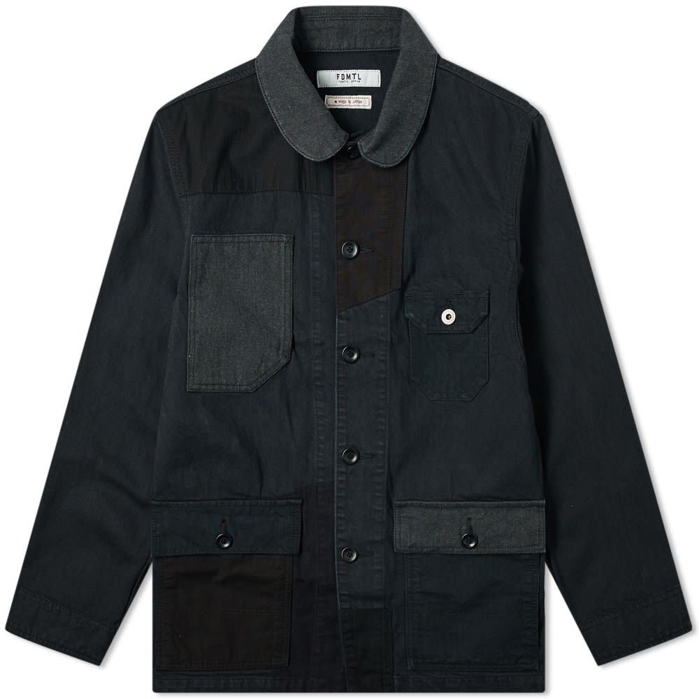 Photo: FDMTL Patchwork Coverall Jacket Black