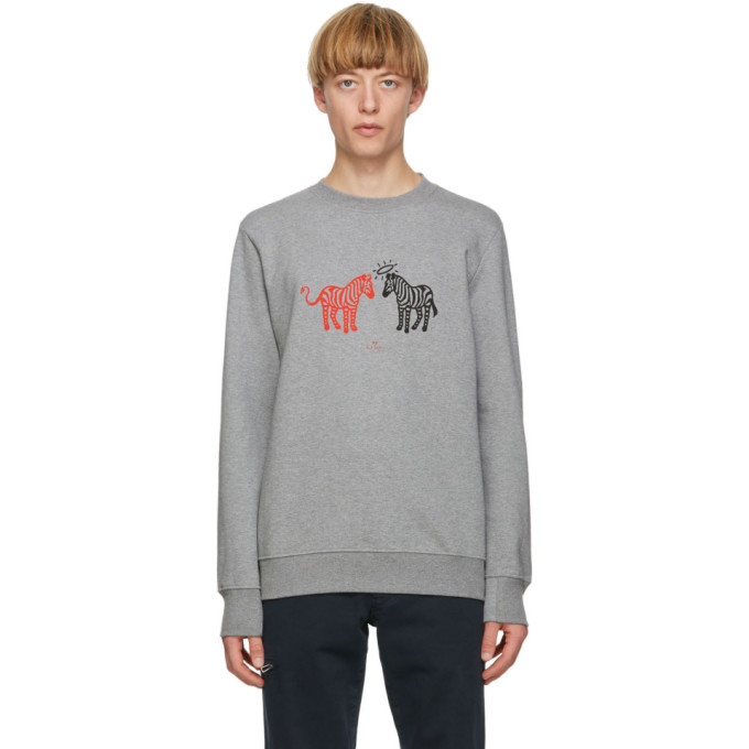 Photo: PS by Paul Smith Grey Zebras Sweatshirt