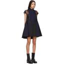 Sacai Black and Navy Panelled Short Dress