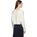 3.1 Phillip Lim White Mohair Cropped Sweater