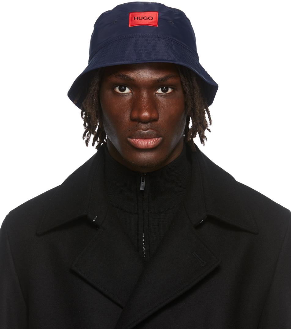 Photo: Hugo Navy Box Logo Bucket Hat