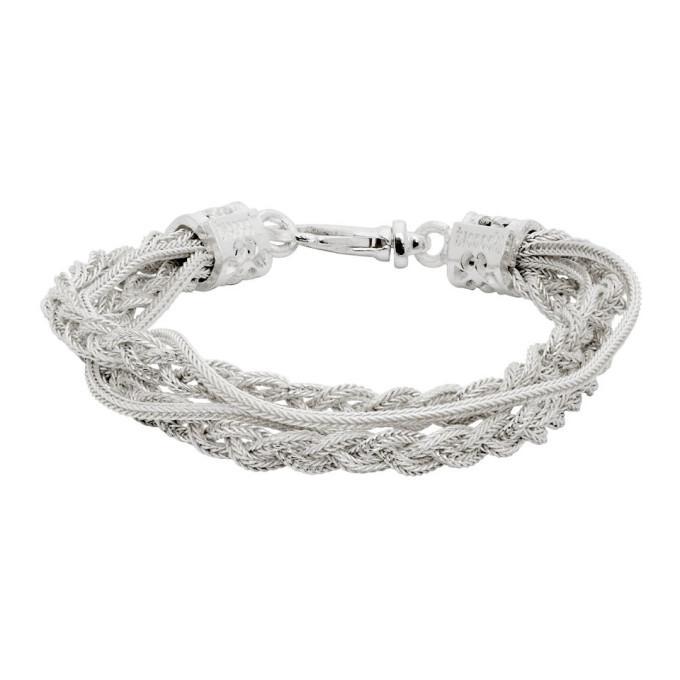 Photo: Emanuele Bicocchi White Double Chain and Braided Bracelet