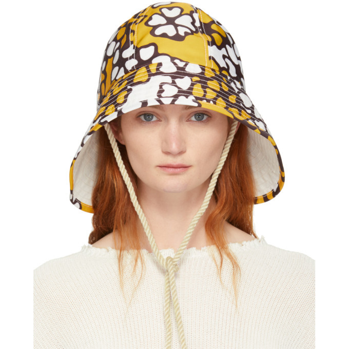 3.1 Phillip Lim Orange Printed Sporting Bucket Hat
