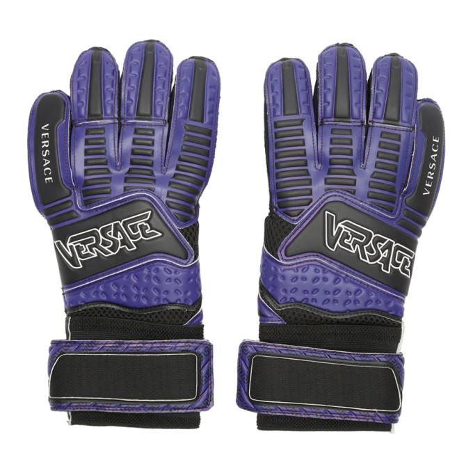 Versace Purple Logo Gloves