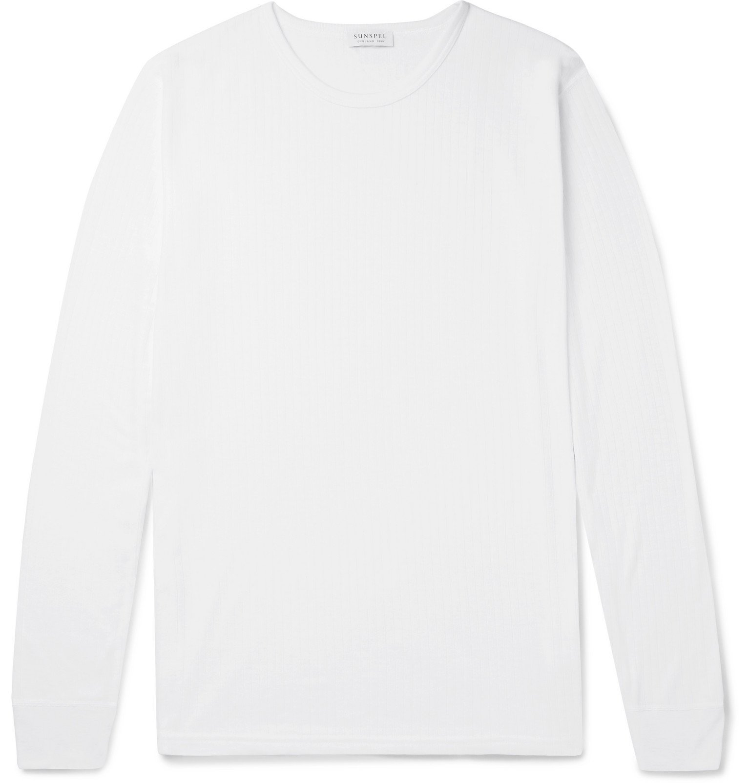 Sunspel - Thermal Jersey Pyjama T-Shirt - White