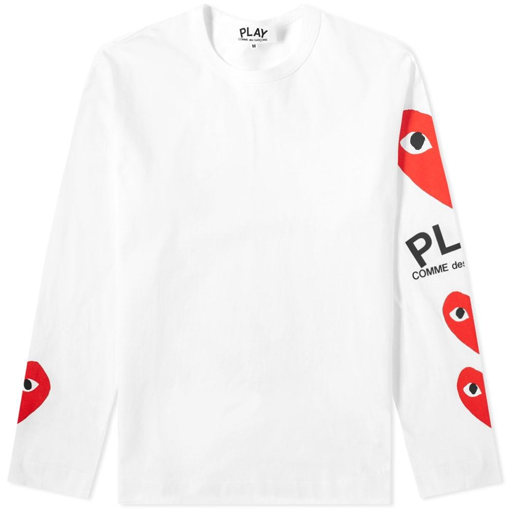 Photo: Comme des Garcons Play Long Sleeve Multi Heart Tee