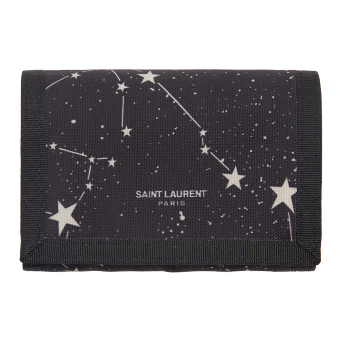 Photo: Saint Laurent Black Tiny Orion Constellation Card Holder