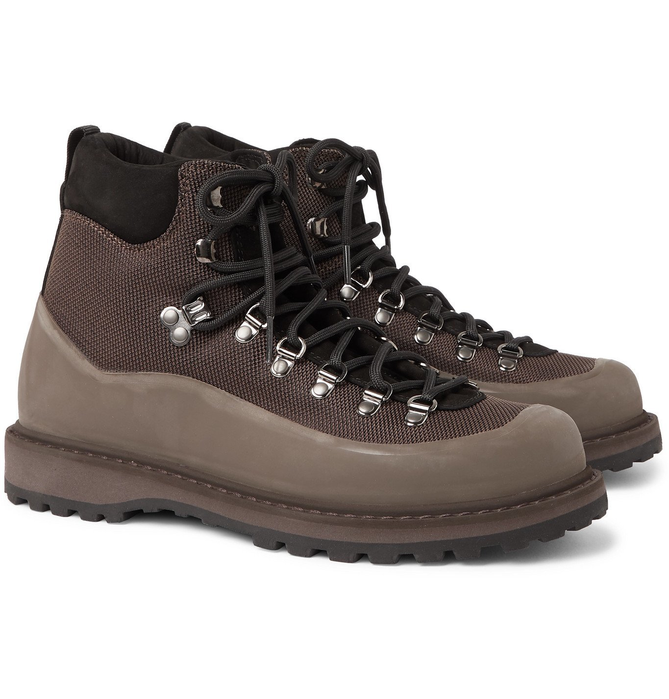 Photo: Diemme - Roccia Vet Rubber and Nubuck-Trimmed CORDURA Hiking Boots - Brown