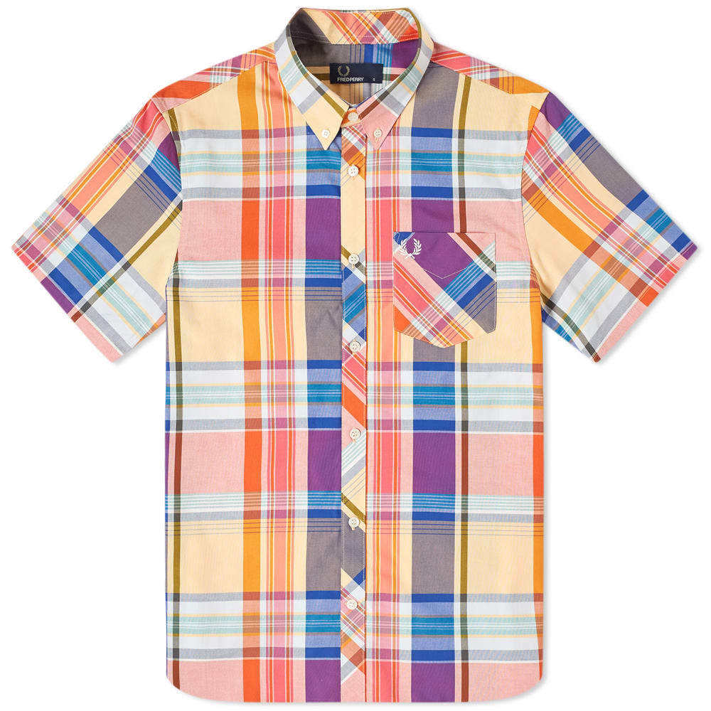 Photo: Fred Perry Madras Check Button Down Shirt Red