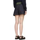 Sacai Blue and Khaki Denim Wrap Shorts