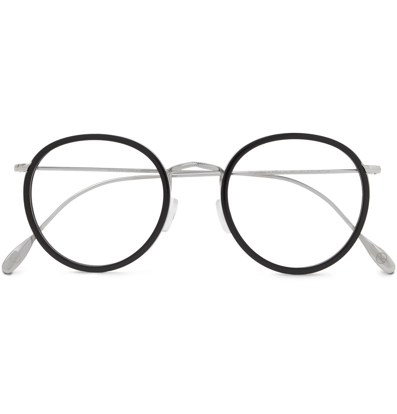 Photo: Kingsman - Cutler and Gross Round-Frame Acetate and Silver-Tone Optical Glasses - Black