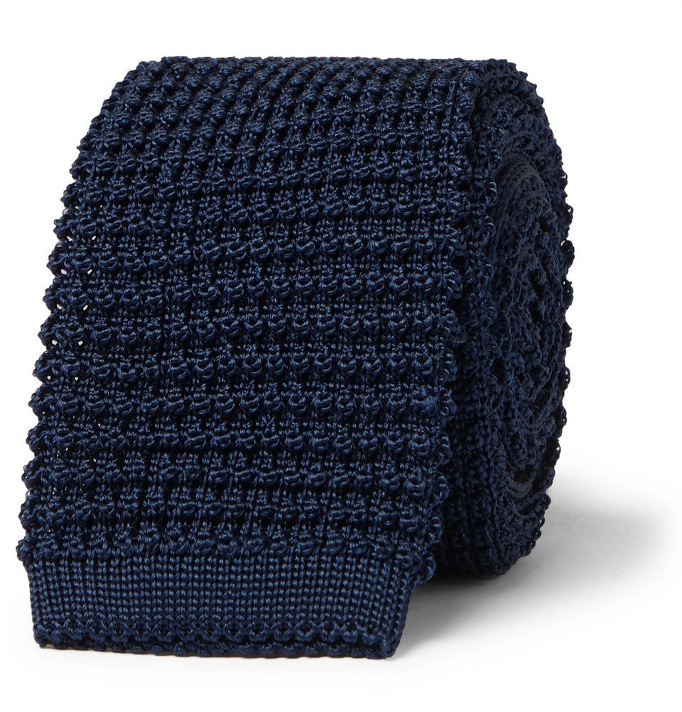 Photo: Canali - 6.5cm Knitted Silk Tie - Blue