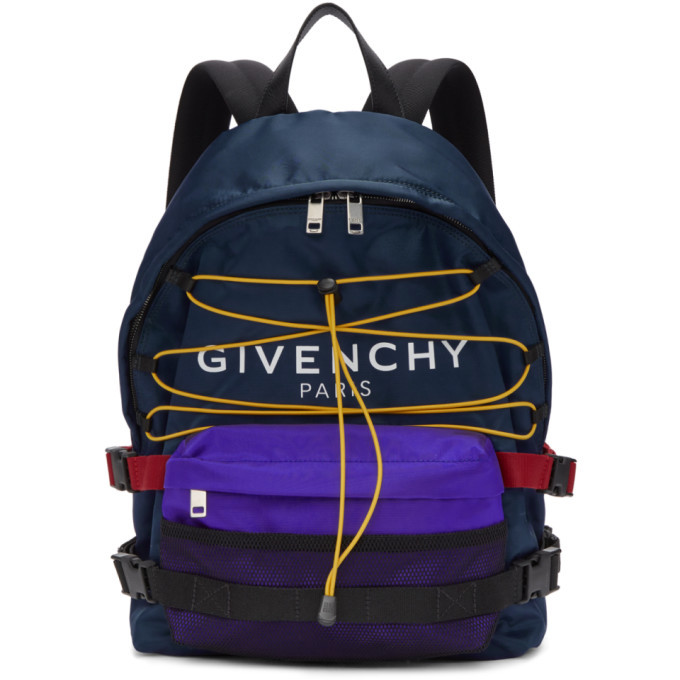 Photo: Givenchy Blue and Black Hiking Backpack