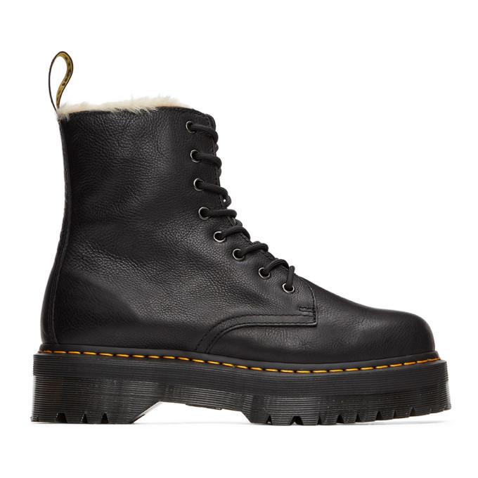 Photo: Dr. Martens Black Jadon Faux-Fur Lined Boots