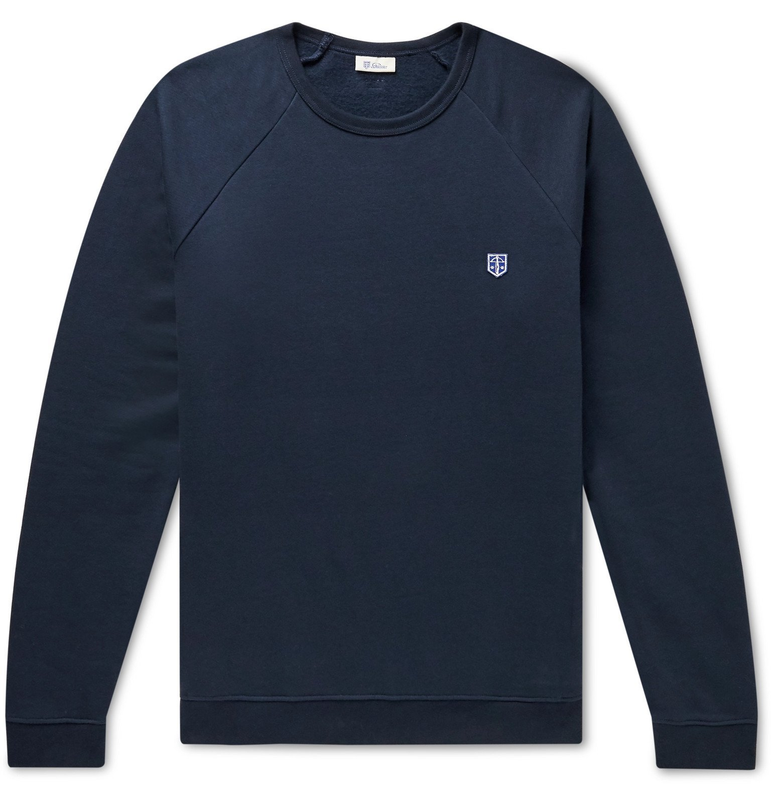 Schiesser - Vincent Fleece-Back Cotton-Jersey Sweatshirt - Blue