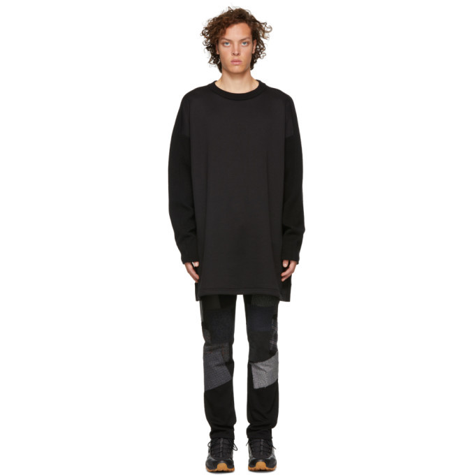 Photo: Y-3 Black Mohair Stacked Logo Sweater